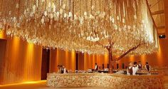 wow overhead floral for wedding