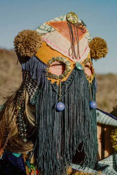 Juxtapoz Magazine - Cosmic Costumes from Bunnie Reiss Textiles, Bagdad, Masks Art, Fashion Mask, Reiss, Mode Inspiration, Mode Style, Mask Design, Headdress