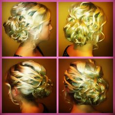 Hair by Holly Westerman #Prom #Updo #hair #style #blonde #curls