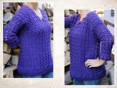 """Häkelanleitung Pullover """"Tulpenzeit"""" Gr. S-L, crochet pattern pullover size S-L"""