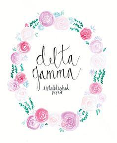 Floral Delta Gamma