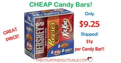 WOW!! Grab a box of Hershey's Candy Bars for only $9.25 shipped! They will go fast at this price! That is only $0.51 each bar!  Click the link below to get all of the details ► http://www.thecouponingcouple.com/hot-hersheys-bars-deal-only-0-63-each-shipped/  #Coupons #Couponing #CouponCommunity  Visit us at http://www.thecouponingcouple.com for more great posts!