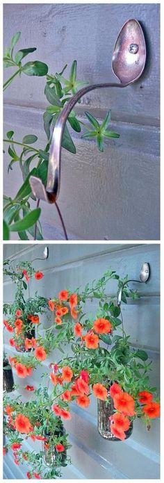 {DIY Spoon Hanging Plant Hooks}