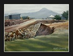 Amit dhane watercolour on paper  pune,india