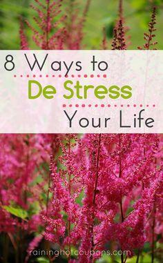 8 Ways To De-Stress Your Life
