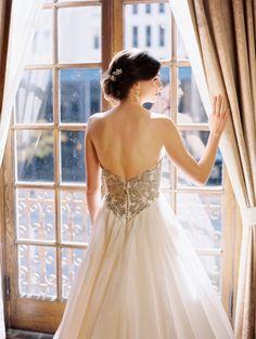 Beautiful wedding dress with low back
