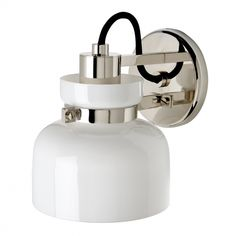 Helio+Wall+Mounted+Single+Arm+Sconce+with+Glass+Shade WaterWorks