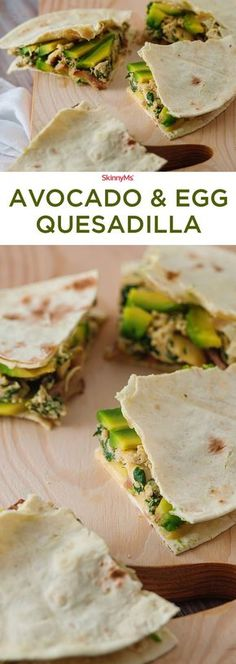 Tired of the same old boring breakfasts? Try this flavorful, nutritious, and satisfying Avocado & Egg Quesadilla recipe! #breakfast #avocado #eggs
