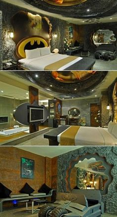 Batman Bedroom Design Ideas. Now I want to do a Hall of Justice bedroom.