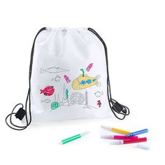 Children deserve the best, that's why we present to you Rucksack to Colour In with Felt Tip Pens ideal for those who seek quality products for their . Clothing Websites, Body Lotion, Drawstring Backpack, Cool Things To Buy, Crafts For Kids, Like4like, Backpacks, Fun, Accessories