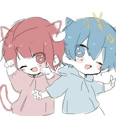 Kawaii Chibi, Cute Chibi, Kawaii Anime, Oc Drawings, Kawaii Drawings, Anime Neko, Anime Art, Cute Boy Drawing, Wolf People