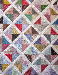 Vintage Patchwork Quilt Vintage Bedding by JeepersKeepers on Etsy, $350.00