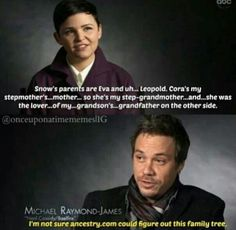 Michael knows what's up. So funny trying to figure out this complicated family trees in Once Upon a Time