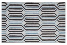 4' x 6' Denver Dhurrie, Ivory/Mocha on OneKingsLane.com    /Might not be the exact rug I'd want for the bedroom, but the color combo is one to keep in mind.