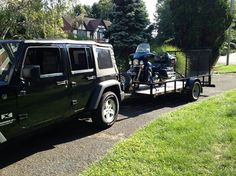 Moving Furniture, Utility Trailer, Lawn Care, Atv, Trailers, Vehicles, Happy, Lawn Maintenance, Pendants