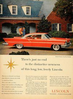 1957 Ad Lincoln Premiere Two Door Hardtop Convertible - ORIGINAL ADVERTISING TM3