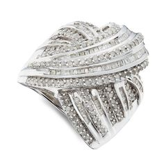 images of costume jewelry rings | ctw Round and Baguette Diamond Fashion Ring : Jewelry Fashion