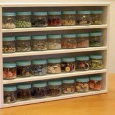 Spice Rack great idea for used baby food jars