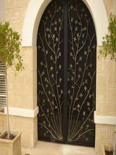 The Wrought Iron Factory is widely known for excellent wrought iron doors of supreme quality. Our hand-crafted doors offer high security while displaying majestic grandeur which can complement the surrounding streetscape. Wrought Iron Doors, Furniture Showroom, Iron Gate Design, Wrought Iron, Iron Security Doors, Balustrade Design, Hand Crafted Doors, Wrought Iron Driveway Gates, Grill Design