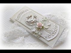 Kartka na bierzmowanie. - YouTube Embossed Cards, Anna Griffin, Handmade Decorations, Baby Cards, Cute Love, Communion, Diy And Crafts, Christmas Cards, Scrapbooking