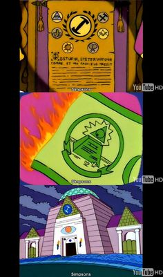 End The illuminati - Simpsons illuminati references