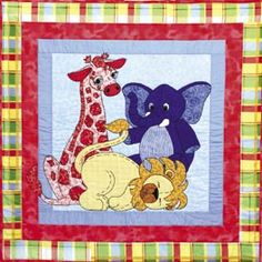Jungle Babies Baby Quilt Pattern