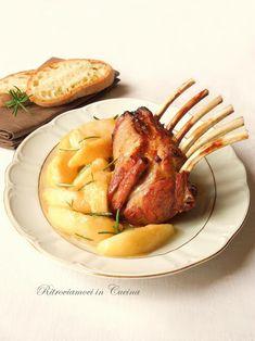 Ritroviamoci in Cucina: Carré di Agnello con Pere al Miele e Rosmarino... e salsa HP