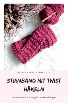 Twisted headband - simple instructions for a beautiful headband - easy and quick crochet headband with twist. Ideal for beginners - Free Sewing, Free Knitting, Baby Knitting, Crochet Blanket Patterns, Stitch Patterns, Knitting Patterns, Quick Crochet, Free Crochet, Bandeau Torsadé