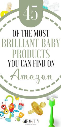 A list of the most brilliant baby products you can find on Amazon. Amazon baby must haves, Amazon toddler must haves, most popular baby products on Amazon, baby gadgets, etc! #amazonbaby #amazontoddler #motherhood #amazonregistry #babymusthaves #amazonmusthaves #toddlermusthaves