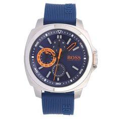 Hugo Boss - Men\'s Brisbane\' Multifunction Silicone Strap Watch 1513102 - Online Price £125.00