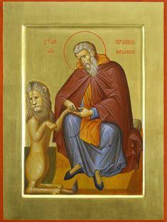 ПРЕПОДОБНЫЙ ГЕРАСИМ ИОРДАНСКИЙ 17 марта  Был родом из г. Ликии (Каппадокия, Малая Азия). Уже в юности он решил оставить мирскую жизнь и посвятить себя служению Богу. Приняв монашество, он ушел в Египет, в Фиваидскую пустыню. Затем по прошествии многих лет святой пришел в Палестину и поселился в Иорданской пустыне. Здесь преподобный Герасим устроил обитель, устав которой отличался большой строгостью. Сам настоятель являл братии…