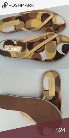 "Coach ""Dorra"" yellow sandals - womens 8.5 M Coach ""Dorra"" yellow sandals - womens 8.5 M Coach Shoes Sandals"