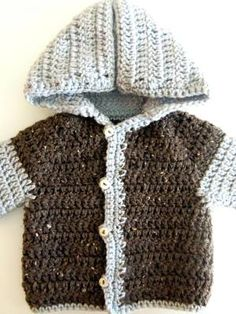 Crochet Baby Patterns Easy Crochet Baby Sweater Free Crochet Pattern - I adore every singe one of these boy sweater crochet patterns! Looking for girls sweaters? Check out my 10 Free Crochet Sweater Patterns For Girls post! Easy Beginner Crochet Patterns, Boy Crochet Patterns, Crochet Baby Sweater Pattern, Crochet Baby Jacket, Crochet Baby Sweaters, Baby Sweater Patterns, Crochet Baby Clothes, Baby Patterns, Crochet Toddler