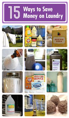15 ways to save money on laundry! --- http://www.hometalk.com/b/625895/laundry-recipes