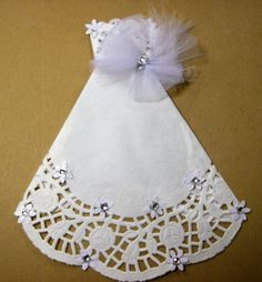 White Paper Doily Wedding Gown PDF Embellishment by ljbminis2021