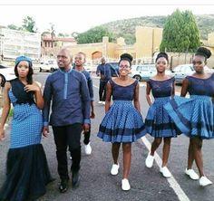 African sotho Shweshwe dresses for 2020 ⋆ African Bridesmaid Dresses, African Wedding Dress, African Print Dresses, African Print Fashion, African Fashion Dresses, African Clothes, Traditional Wedding Attire, Traditional Outfits, Traditional Weddings