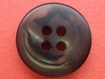 9 kleine KNÖPFE braun grau 15mm (2665)Blusenknöpfe