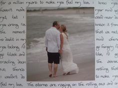 Going to do this for Matt for our anniversary gift.  Wedding song lyrics around a picture put into a frame.  Think it would look great on 12x12 paper, need to go to archivers to print it out unless i feel like hand writing it