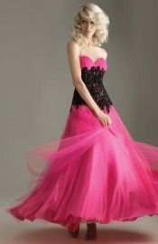 Modest A-line Elastic Woven Satin Sweetheart Lace up Floor Length Graduation Dress-0