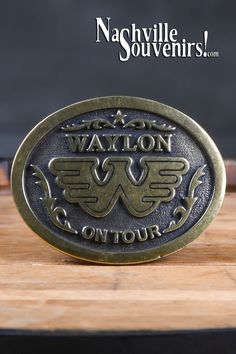 WAYLON JENNINGS FLYING W LOGO HAT PIN SOLID PEWTER COLOR FINISH-new