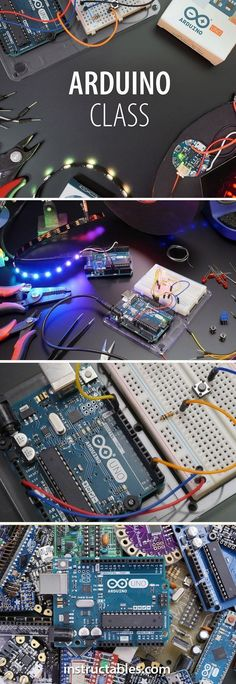 This class will launch your Arduino journey and give you the skills and confidence to take on almost any Arduino project you may find or create in the future. - Best Of Daily Sharing Diy Arduino, Arduino Class, Esp8266 Arduino, Arduino Programming, Linux, Arduino Books, Electronics Projects, Electrical Projects, Simple Electronics