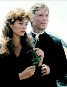 """Richard Chamberlain and Rachel Ward in """"The Thorn Birds"""", 1983 Rachel Ward, Richard Chamberlain, Tv Couples, Famous Couples, Die Dornenvögel, The Thorn Birds Movie, Bryan Brown, Piper Laurie, Best Love Stories"""