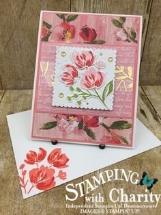 Flower Birthday Cards, Flower Cards, Birthday Cards For Women, Stamping Up Cards, Pretty Cards, Paper Cards, Creative Cards, Art Floral, Floral Card