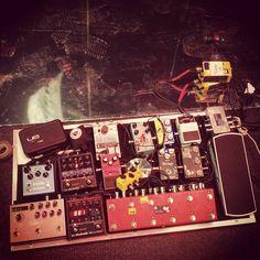 Timon Klein's pedalboard for Zion Tour 3.0