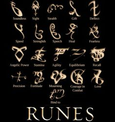 runes from THE MORTAL INSTRUMENTS