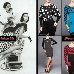#Polkadot dresses were everywhere in the 50s. We've taken the polka dots and adapted them into dresses, tunics, and shirts! #Fashion #trends #tbt