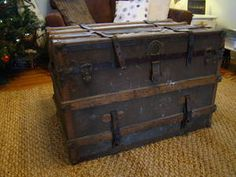 Antique Trunk - a great refinishing project!  $150