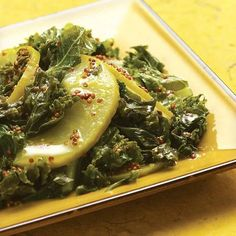 Kale with Apples and Mustard