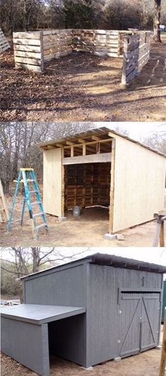 Small Barn Or Shed Made From Pallets --- #pallets