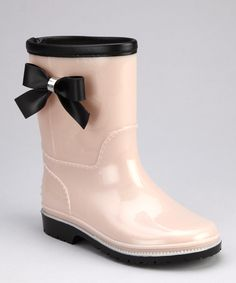 Beige Princess Rain Boot - Kids... I want these!  @Nicole Burr maybe these would fit you? :-)
